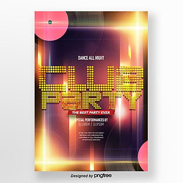 Fashionable cool flashlight effect flashlight party theme Poster Template