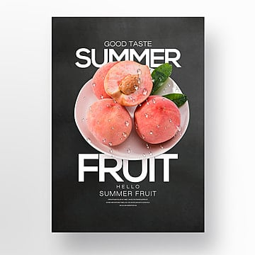 fire dragon fruit summer fresh fruit theme poster Template