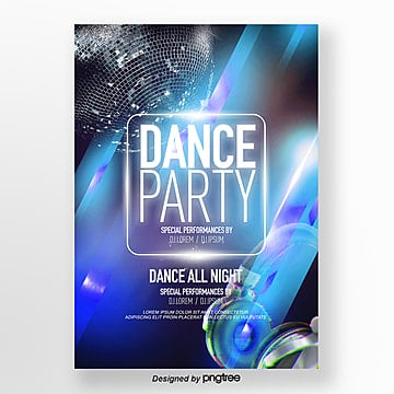 flash fashion lights flash party theme poster Template