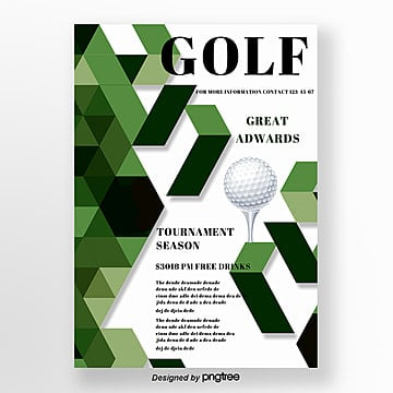 Green Simple Style Golf Match Poster Template