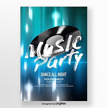 Modern Fashion Flash Party Theme Poster Template