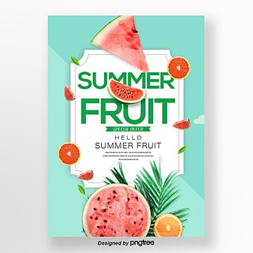 natural fresh fashion simple summer theme poster Template