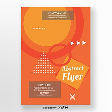 orange geometric abstract block flyer, Leaflet, Leaflet Design, Geometric PNG and PSD
