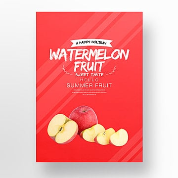 summer fresh fruit fashion simple theme poster Template