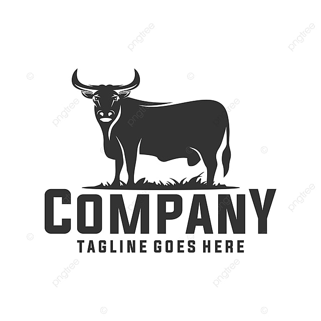 Vintage And Luxury Logo Template: Angus Cow Logo Template For Free Download On Pngtree
