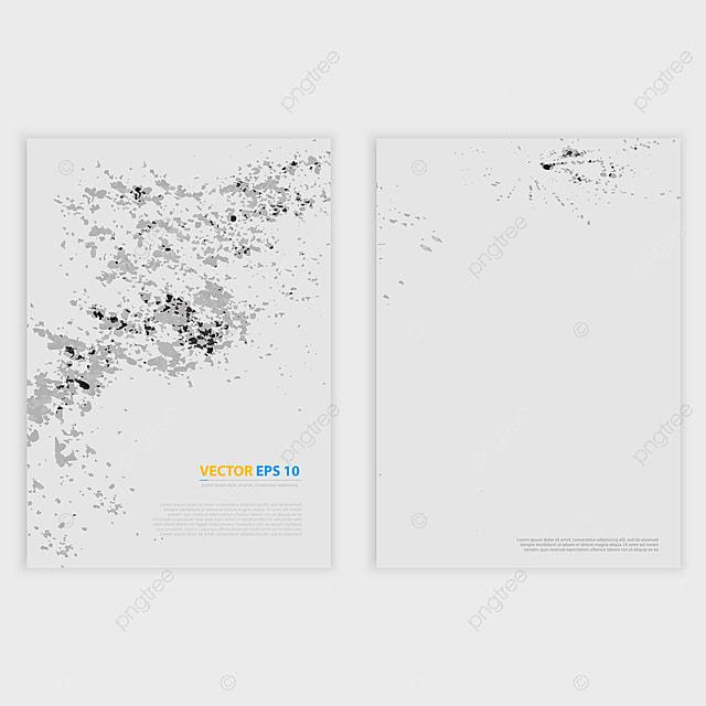 vector grunge template flyer design broschüre design with