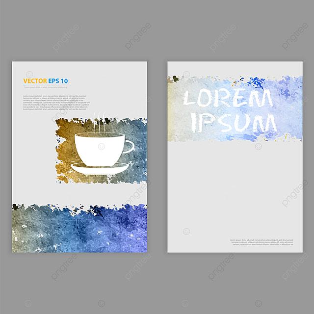 Vector Grunge Template Flyer Design Brochure Design With