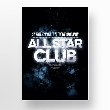 creative basketball all star club poster Template