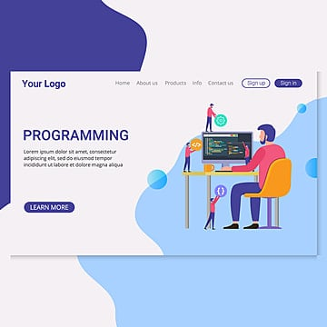 landing page template programming web development concept Template