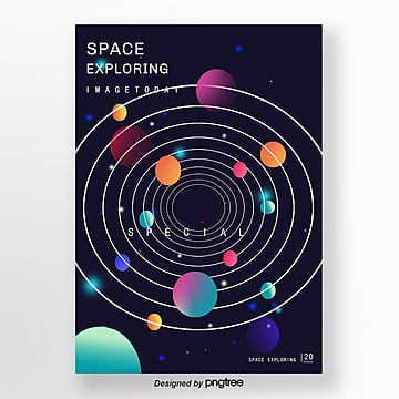 creative planet universe poster Template