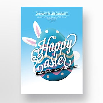 Cartoon Easter Egg Theme Poster Template