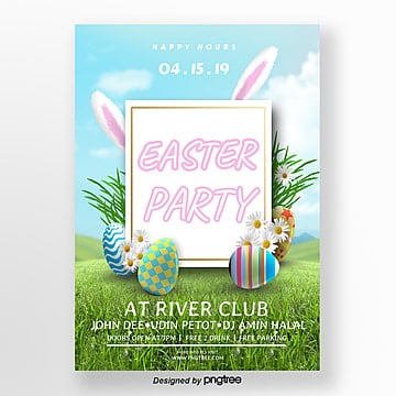 Cartoon Fresh Easter Creative Poster Template