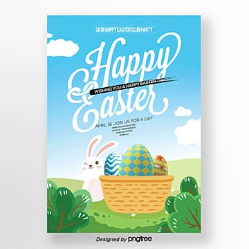 cartoon posters for easter festivals Template