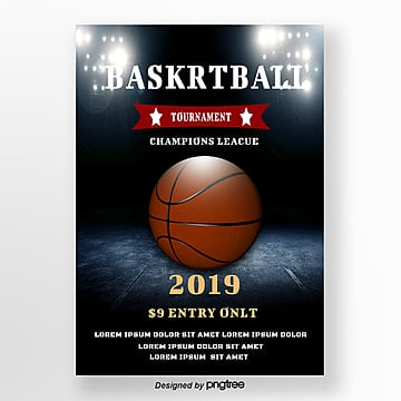 creative basketball match poster Template