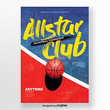 creative basketball sports posters Template