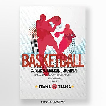 Creative Basketball Trend Theme Poster Template