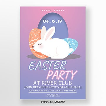 Creative cartoon Easter posters Template