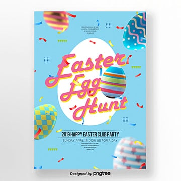 easter egg festival theme poster Template