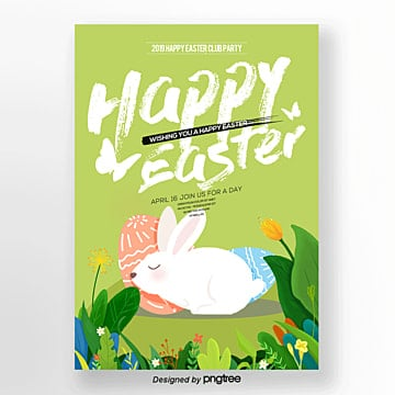 Fresh and lovely Easter posters Template