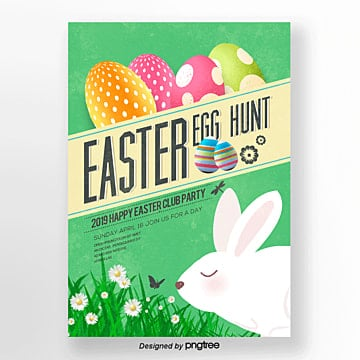 retro easter theme posters Template