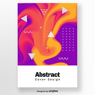 Brilliant Purple Red Abstract Bright Geometric Poster Template