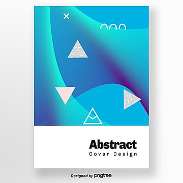 creative blue green fluid bright geometric poster Template