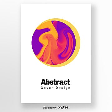 Creative circular purple yellow bright geometric Poster Template