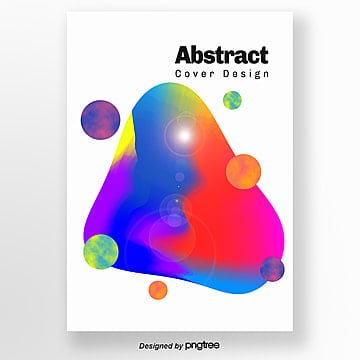 creative cloud geometry brilliant poster Template