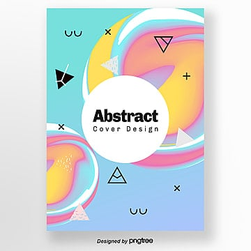creative colour spiral geometric bright poster Template