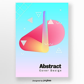 creative red and blue gradual bright geometric poster Template
