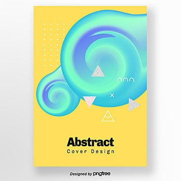 Creative yellow-green spiral geometric bright Poster, Bright Colors, Geometric, Geometric Poster PNG and PSD