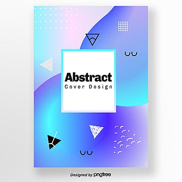 gradual purple blue abstract geometric bright poster Template