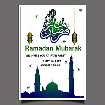 Ramadan Kareem Party Poster Template for Free Download on Pngtree