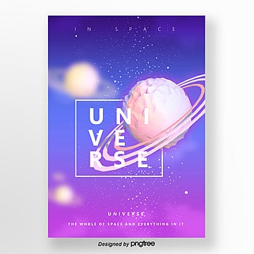 abstract gradual space universe poster Template