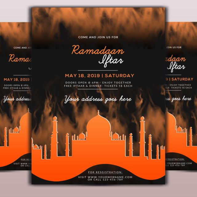 Umrah Banner: Ramdan Iftar Flyer Template For Free Download On Pngtree
