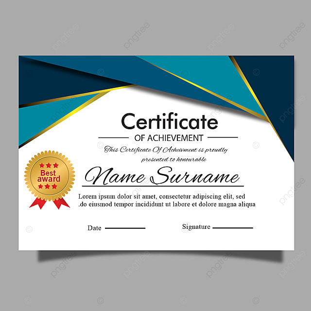Elegant Modern Certificate template for award, diploma or ...