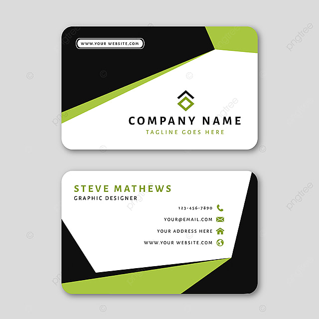 Modern Business Card Template With Abstract Design Template