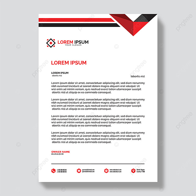 modern company letterhead template for free download on