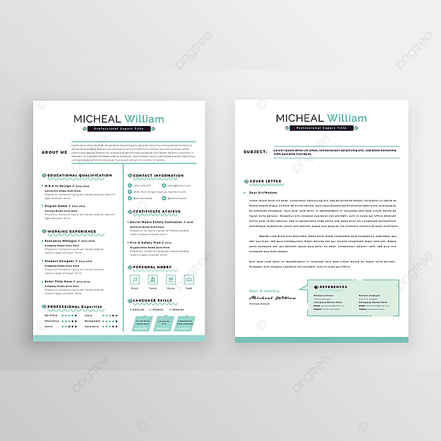 Modern Professional Resume Template Template For Free Download On