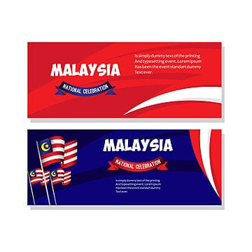 malaysia national celebration poster vector template design illustration Template