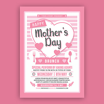 Mothers Day Brunch, Brunch, Celebration, Colorful PNG and PSD