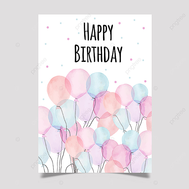 Sensational Watercolor Birthday Greeting Card Template For Free Download On Personalised Birthday Cards Bromeletsinfo