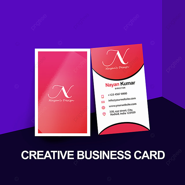 Creative Visiting Business Card PSD Graphics Template