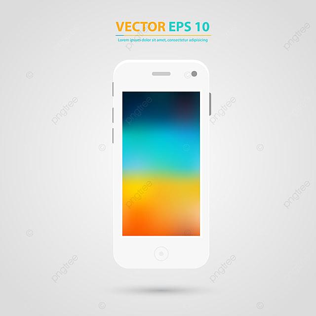 Schermo Del Vettore Del Telefono Cellulare Con Sfondo Bianco A