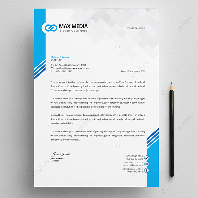 Colorful Template Design For Business Card:  Business Letterhead Design Template Template For Free