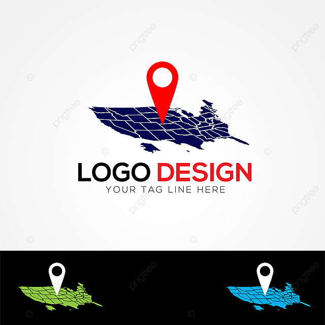 Us Map And Pin Logo Template For Free Download On Pngtree - Us-map-logo