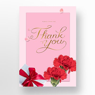 Thank you for the flowers poster for Mothers Day gift Template