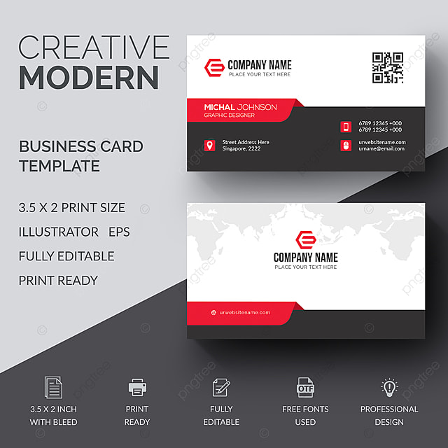 Moderne Visitenkarte Mit Abstraktem Design Vorlage Zum