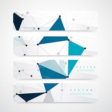 vector set of horizontal network banners or headers with white b Template illustration image