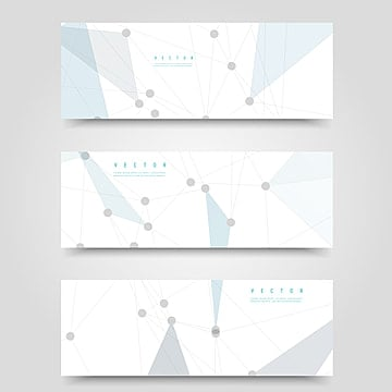 vector set of horizontal network banners Template illustration image